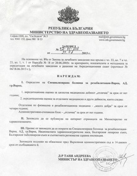 Документи СБР Термал Варна-Златни пясъци - СБР Термал Варна АД