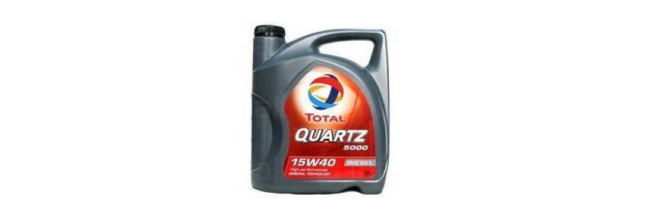 Моторно масло Total Quartz 5000 15W40 - 5 литра - Infocall.bg