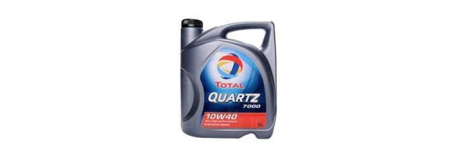 Моторно масло Total Quartz 7000 10W40 - 5 литра - Infocall.bg