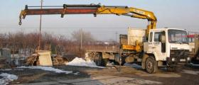 Бордови камиони с кран под наем в Пловдив - Техноконструкт ЕООД