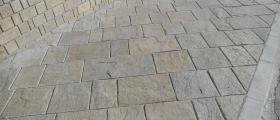 Каменна подова настилка в Гоце Делчев
