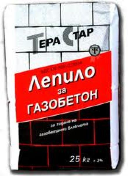 Лепило за газобетон - ТЕРА СТАР
