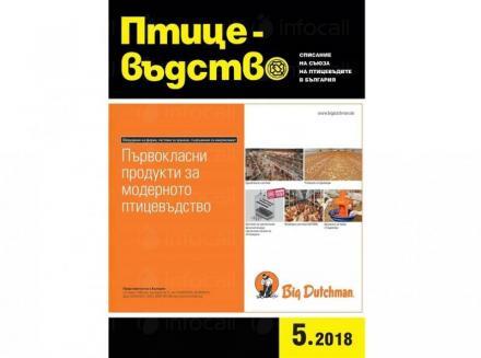 Списание Птицевъдство в София-Сердика - Съюз на птицевъдите в България