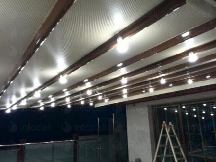Тенти с осветление тип Пергола в град Пловдив - Алутрейдинг ЕООД