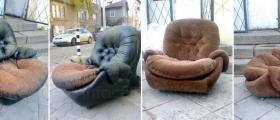 Претапициране на фотьойли в София-Център