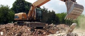 Събаряне на сгради Троян