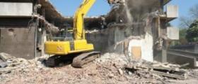 Събаряне на сгради в Самоков