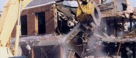 Събаряне на сгради в София-Център