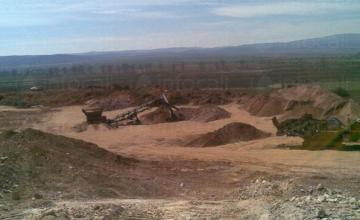Добив на скална маса в Априлово-София - Инертни материали София област