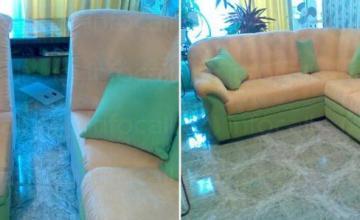 Ира 1963 ЕООД - Претапициране на ъглов диван в София-Център