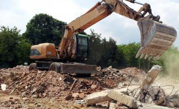 Събаряне на сгради Троян - Асет Билд