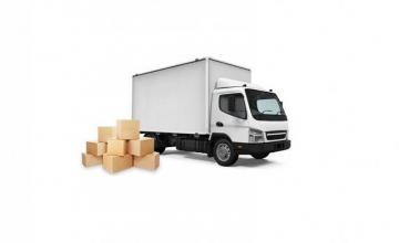 Транспорт на товари камион с палетна количка Велико Търново