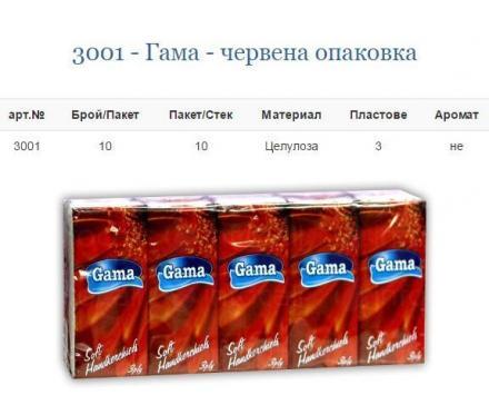 Производство на носни кърпи в Гоце Делчев - Гама Комерс